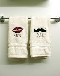 wedding gift towels embroidered mr and mrs towels by thrivinghearts on etsy