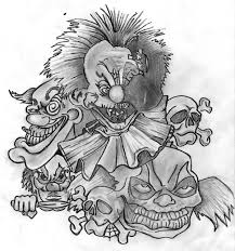 clowns i found redrawn and arranged for sleeve design clown