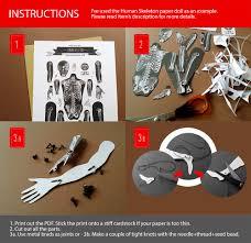 skeleton pdf articulated paper doll instant download printable pdf