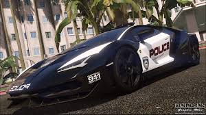 lamborghini centenario lamborghini centenario pursuit police add on replace