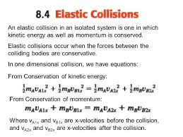 an elastic collision in an isolated system is one in which kinetic energy as well as