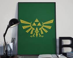 Legend Of Zelda Bedroom Zelda Poster Etsy