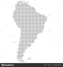 south america dot map dotted map of south america vector eps 10 stock vector