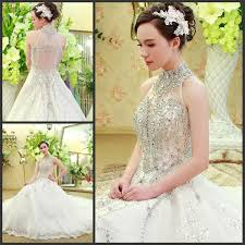 high neck ball gown wedding dresses lace fabric designer wedding