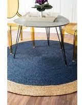 Round Natural Fiber Rug Find The Best Deals On Nuloom Braided Natural Fiber Jute Blue