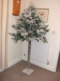 argos 6ft 1 2 wall snowy artificial christmas tree used but in
