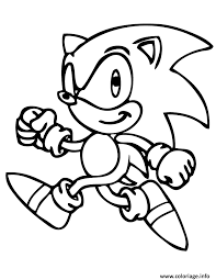 Coloriage sonic the hedgehog walking  JeColoriecom