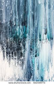 blue and white painting blue white abstract painting on canvas stock illustration 602499773
