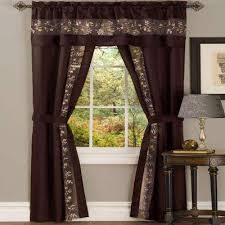 Chocolate Brown And Red Curtains Brown Sheer Curtains U0026 Drapes Window Treatments The Home Depot