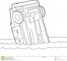 outline of car in water stock vector image 45442305