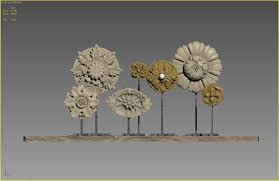 restoration hardware architectural ornaments 3d model max obj fbx mtl