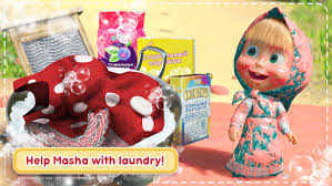 masha bear house cleaning games girls android apps