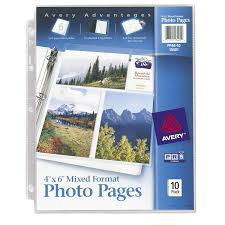 photo album inserts for 3 ring binder avery mixed format photo pages acid free pack of 10
