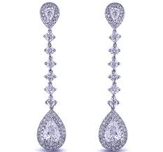 dangling earrings diamond earrings pear shape diamond dangling earrings 2 98 tcw