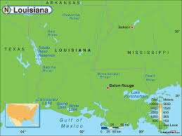 louisiana geographical map louisiana physical map by maps from maps world s