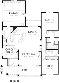 Single Story House Plans With 2 Master Suites Gorgeous 40 Simple One Story 3 Bedroom House Plans Design Ideas