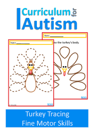 thanksgiving turkey motor skills drawing autism special
