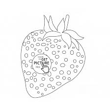 one strawberry coloring page for kids fruits coloring pages