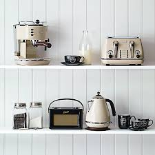 Delonghi Kettle And Toaster Sets Buy De U0027longhi Ctov4003bg Vintage Icona Toaster 4 Slice Cream