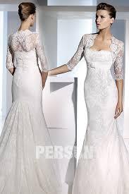 accessoires de mariage boléro pour robe de mariage classique manches mi longues appliques