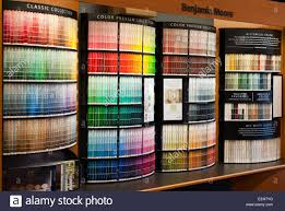 benjamin moore paint store color display stock photo royalty free