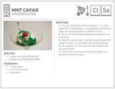 mint caviar molecular gastronomy recipe srp 2014 pinterest