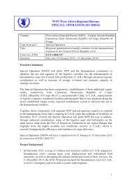 bureau int r wfp special operation 200934 regional optimization of supply