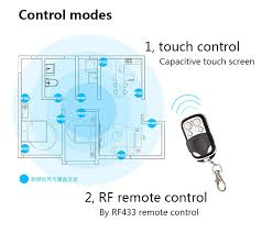 Touch Light Control Eu Uk Standard Sesoo Remote Control Switch 1 Gang 1 Way Rf433