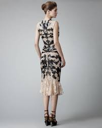 Leather And Lace Clothing Alexander Mcqueen Leather Lace Dress In Black Lyst