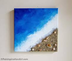 new diy learn to make this coastline painting using found items