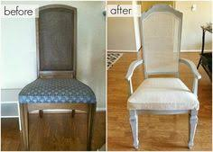 How To Upholster A Dining Chair Back Back Arm Chair Pattern Taped On Chair Back Before