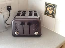 Morphy Richards Accents Red 4 Slice Toaster Morphy Richards 242030 Accents Red 4 Slice Toaster Toasters