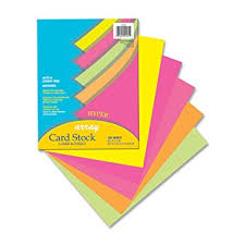 pacon card stock 8 1 2 inches by 11 inches bright