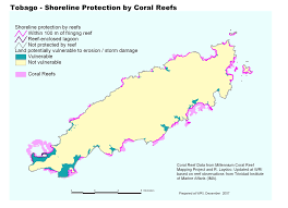 Trinidad And Tobago Map Coastal Capital Economic Valuation Of Coral Reefs In Tobago And