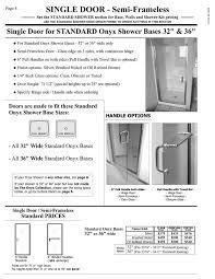 Standard Shower Door Sizes Shower Door Prices Hourglass Kitchen Bath Products