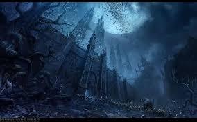 dark village wallpaper paintings landscapes snow night moon drawings village 1920x1200