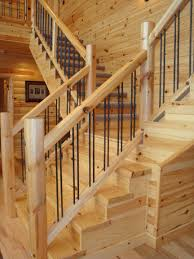 Stair Banisters And Railings Log Railing And Stairs From The Woodworkers Shoppe