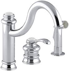 Kohler Single Hole Kitchen Faucet by Kohler K 12185 Cp Fairfax Single Control Remote Valve Kitchen Sink