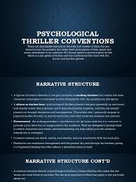 fantasy film genre conventions psychological thriller conventions thriller genre narrative