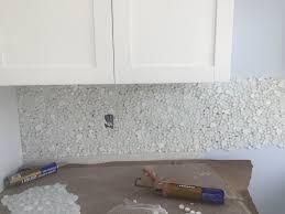 Carrara Marble Kitchen Backsplash Key Largo Kitchen With White Shaker Cabinets