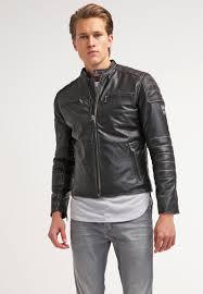 motocross leather jacket pepe jeans men jackets paul leather jacket 999 black pepe