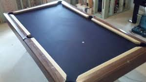 Pool Table Rails Replacement Custom Billiards Cloth And Two Tone Felting And Rails