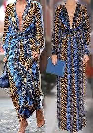 nicole richie wearing issa london denim zebra print maxi silk