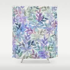 Botanical Shower Curtains Watercolor Botanical Garden Shower Curtain By Uniqued Society6