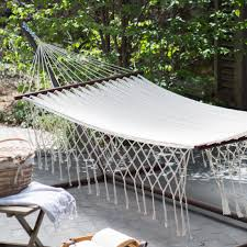 Free Standing Hammock Walmart by Island Bay 13 Ft Xl Double Hammock And Pillow Hayneedle