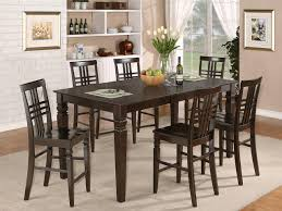 tall square dining table cottage oak pub table set modern dining
