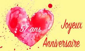 57 ans de mariage carte anniversaire mariage 57 ans chocolat