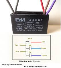 5 wire ceiling fan capacitor wiring diagram electrical online 4u