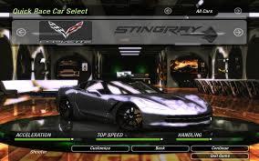 corvette stingray speed need for speed underground 2 chevrolet corvette c7 stingray nfscars
