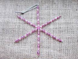 pink acrylic beaded snowflake ornament dragonrat jewellery